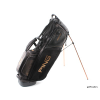 PING HOOFER DELUXE STAND BAG -CHARCOAL 'AUSTRALIAN GOLF CLUB' -LIKE NEW #E473
