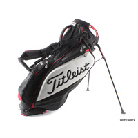 TITLEIST STAFF STAND BAG-  BLACK / RED / WHITE - USED #E474