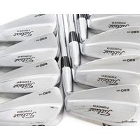 TITLEIST 690MB FORGED IRONS 3-PW STEEL PROJECT X RIFLE STIFF +NEW GRIPS#E636