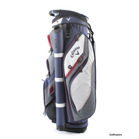 CALLAWAY FORRESTER 2.0 CART BAG WHITE/NAVY/RED - NEW #E671