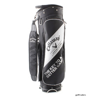 CALLAWAY GOLF 'CUSTOM FITTING' CART BAG BLACK/WHITE - USED #E912