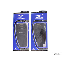 MIZUNO TEC FLEX ALL WEATHER LADIES GOLF GLOVES BLACK LARGE - PAIR - NEW #C4639