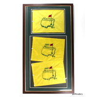 US MASTERS GOLF FRAMED FLAGS - 2001 2002 - 720 X 1060