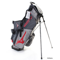 New Mizuno BR-D3 Stand Bag Grey / Red F3403