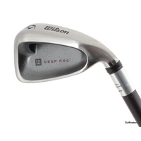 WILSON DEEP RED 6 IRON GRAPHITE FATSHAFT REGULAR FLEX #C1489