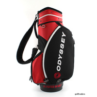ODYSSEY #1 PUTTER GOLF CART BAG BLACK/RED - USED #C3755