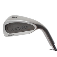 ACCUPAR 3 IRON STEEL REGULAR FLEX - NEW GRIP #D2054