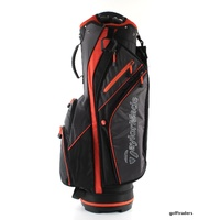 TAYLORMADE LIGHTWEIGHT CART BAG BLACK/CHARCOAL/ORANGE - NEW - #E2480