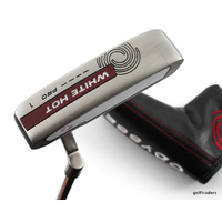 "ODYSSEY WHITE HOT PRO #1 PUTTER 35"" TOUR SNSR GRIP + COVER - #E3558"