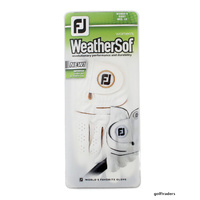 2-PACK FOOTJOY WEATHERSOF LADIES RH MED-LG GLOVES FOR LH PLAYER WHITE NEW E3689
