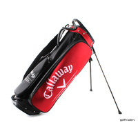 CALLAWAY GOLF 'CUSTOM FITTING' STAND BAG RED/BLACK - USED - #E4417