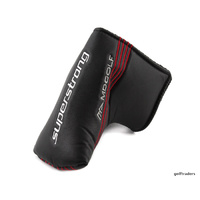 MD GOLF SUPERSTRONG BLADE PUTTER HEADCOVER ONLY - BLACK  -LIKE NEW #E5305