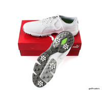 PUMA IGNITE DRIVE MENS GOLF SHOES WHITE/WHITE/DRIZZLE - SIZE 11US NEW #E6195