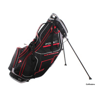 SUN MOUNTAIN FOUR 5 - 14 WAY - STAND BAG BLACK / RED / GREY - MINT #F2054