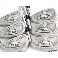 PING ANSER FORGED BLACK DOT IRONS 5-PW DYNAMIC GOLD S300 STIFF FLEX #F2156