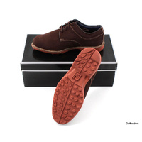 FOOTJOY STYLE 79004A CLUB CASUALS MENS GOLF SHOES 7.5W US -BROWN -NEW #F2247