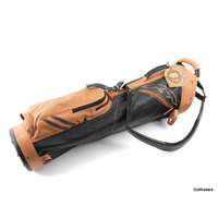 New Sun Mountain Premium Leather Sunday Golf Bag Black / Tan F3180