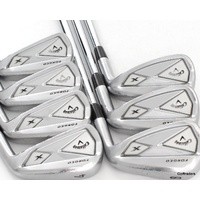 CALLAWAY X FORGED IRONS 4-PW STEEL DYNAMIC GOLD 105 S300 STIFF FLEX #F444