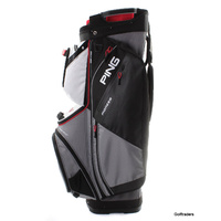 New Ping 191 Pioneer Golf Cart Bag Silver / White / Scarlet F5969