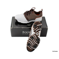 New Footjoy Contour Fit Men's 54096A Golf Shoe White / Brown Size 7.5 W G3667