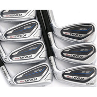 New Cobra King F9 One Length Irons 4-PW Graphite Stiff Flex H2983