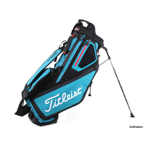 TITLEIST PLAYERS 5 STAND BAG BLACK / BREEZE / RED - NEW #F2343